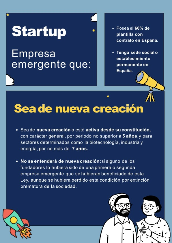 Infografía Anteproyecto Ley de Startups Carátula